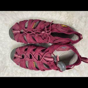 Keen Red 'Whisper' Water Friendly Sport Sandals